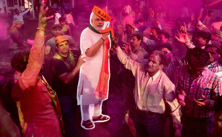The victory in Uttar Pradesh and Uttarakhand heralded an early Holi for the Bharatiya Janata Party across India. PTI