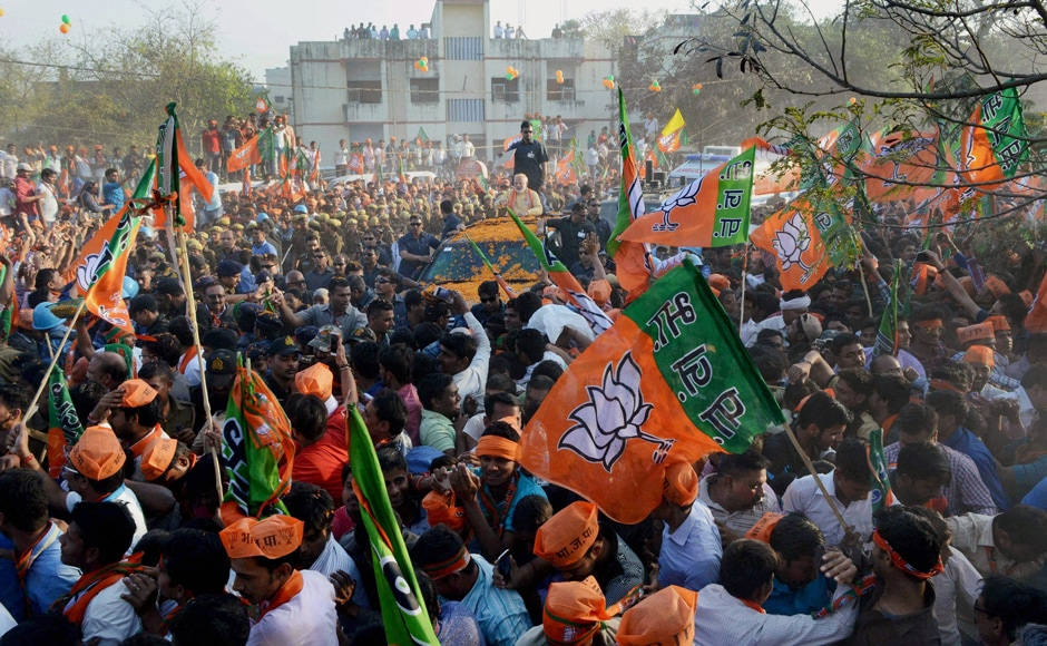 Thefive-km road show began at Pandeypur Square and wound its way through Chaukaghat, Teliabagh, Maldahiya and Patel Chowk before culminating at the Mahatma Gandhi Kashi Vidyapith, where he addressed a huge gathering. PTI