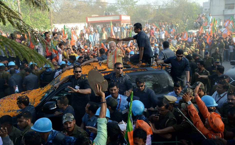 Addressing a public meeting on Sunday in Varanasi, Modi referred to his road show earlier in the day, which he said broke the previous day's record and called the support he received as something he had never seen before in his life. PTI