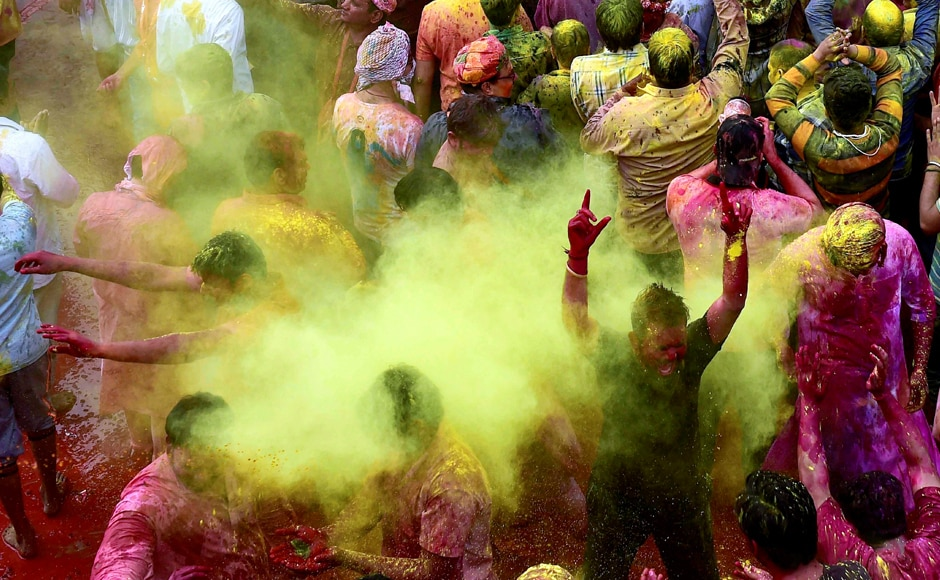 The annual event, said to be observed for last 5000 years in Barsana and Nandgaon villages is welcomed with enthusiasm and historical pride. Celebrated in the villages a few days before Holi, 'Lathamar' means 'playing with sticks'. PTI