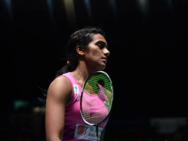 PV Sindhu during the All England Open Badminton Championships. Getty