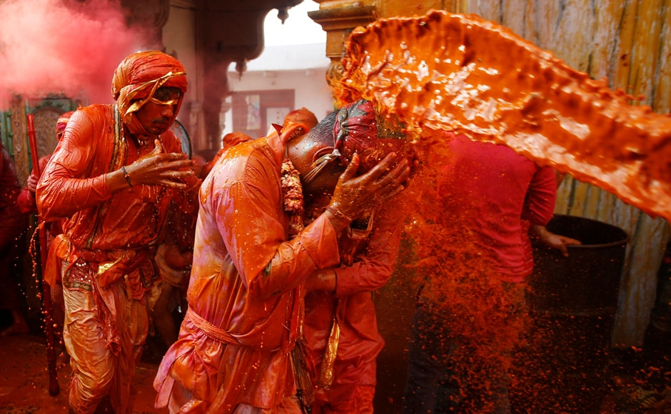 The celebration of Holi here is marked by a fine blending of music and dance by local youngsters who enthral the visitors from across the globe. Reuters