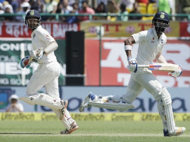 Cheteshwar Pujara will have to take the inings ahead after KL Rahul's departure. AP