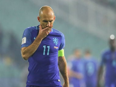 Arjen Robben was disappointed with the 2-0 loss against Bulgaria. AP