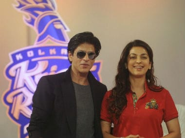 File photo of Shah Rukh Khan and Juhi Chawla. Getty Images