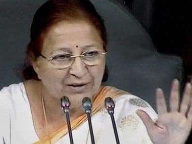 Lok Sabha speaker Sumitra Mahajan. PTI.