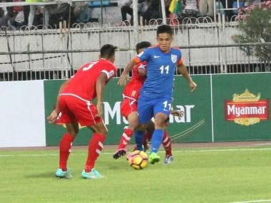 Sunil Chhetri scored a late winner for India against Myanmar. AIFF