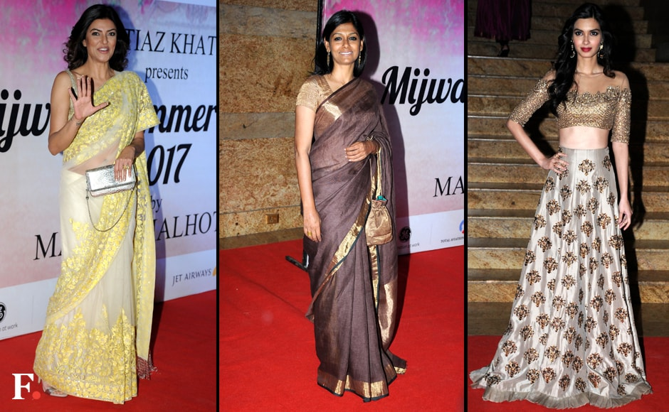 Glam ladies: Sushmita Sen, Nandita Das and Diana Penty. Sachin Gokhale/Firstpost