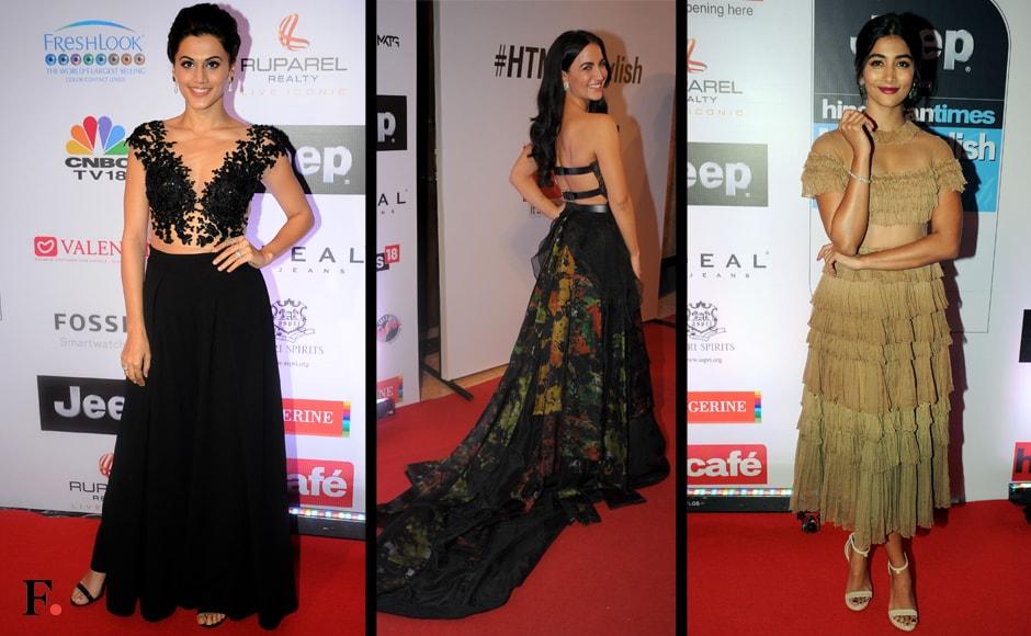 Taapsee Pannu, Eli Evram & Pooja Hegde. Sachin Gokhale/Firstpost