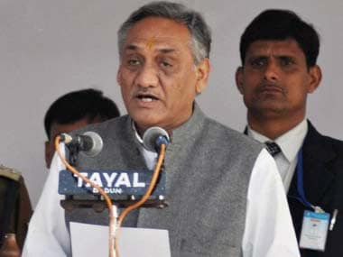 Vijay Bahuguna will start early favourite to become chief minister. AFP