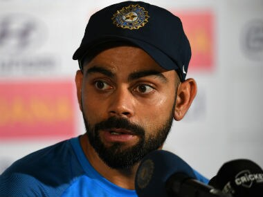 Virat Kohli gave one of his stormiest media interactions as captain. AFP