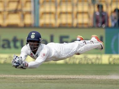 File photo of India's Wriddhiman Saha. AP