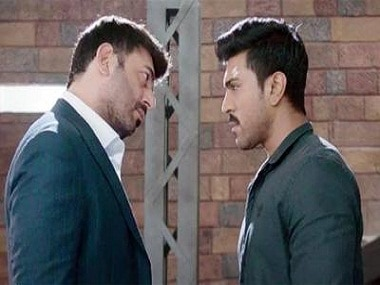 Arvind Swamy and Arvind Swamy in a still from Dhruva. YouTube