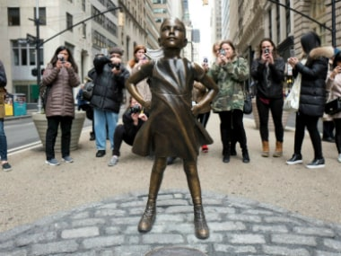 The 'fearless girl' on Wall Street. AP