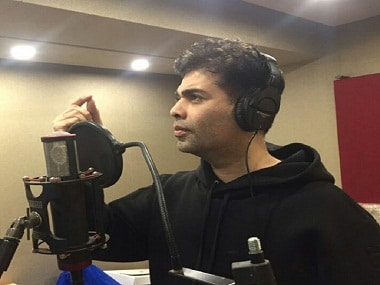 Karan Johar turns singer, croons a number composed by Shekhar Ravijiani for reality show