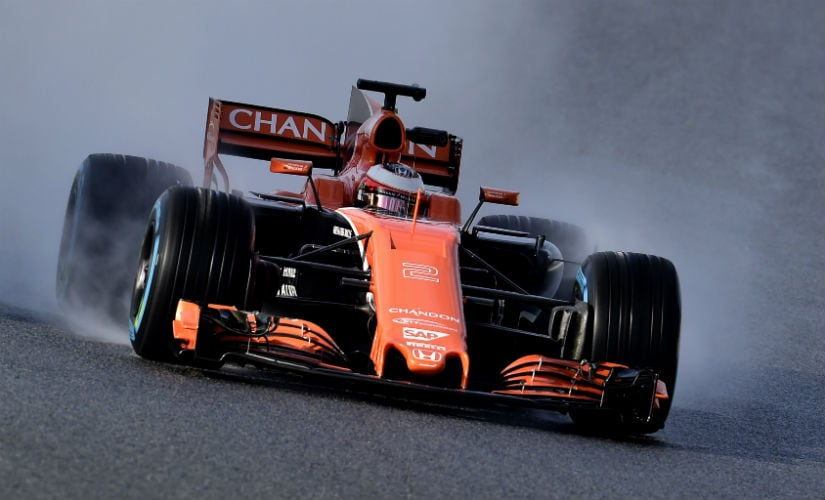 McLaren-Honda's Stoffel Vandoorne drives on the outskirts of Barcelona during tests for the Formula One Grand Prix season. AFP