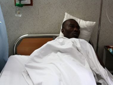 Ibgiya Malu Chukwuma was also one of those who was attacked and is admitted in the same hospital as Endurance. Image courtesy: Narendra Kaushik