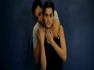 Akshay Kumar and Taapsee Pannu in a still from the video. Twitter