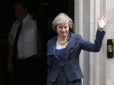 File image of British Prime Minister Theresa May. Reuters