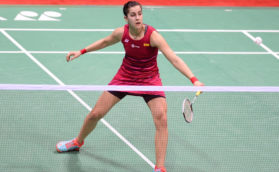 Third seed PV Sindhu beat Spain's Carolina Marin 21-19, 21-16 in a match that lasted 46 minutes at the Siri Fort Sports Complex. AFP