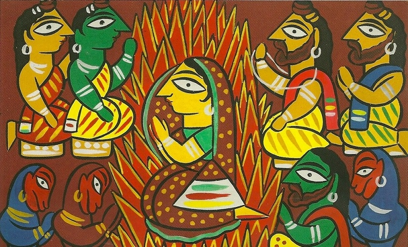 A painting from the Ramayana series. Image from Flickr by Nathan Hughes Hamilton