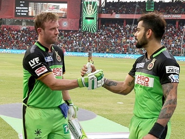 RCB team-mates AB de Villiers and Virat Kohli are known to put up some of the most destructive stands in the IPL. Sportzpics