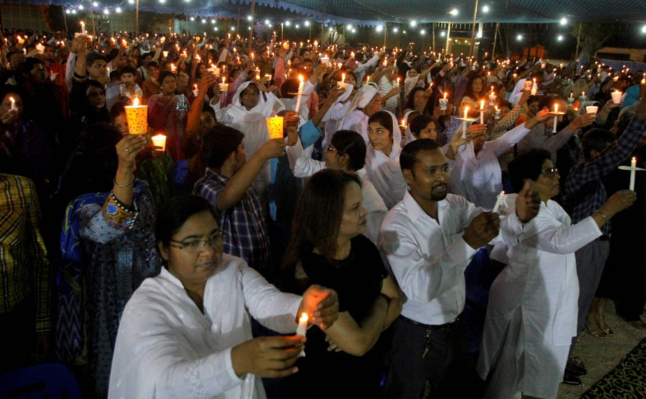 Christians in Karachi celebrate Easter, the day Jesus was resurrected. The Pakistani police foiled a plan to bomb a Easter celebration on Saturday. AP/PTI