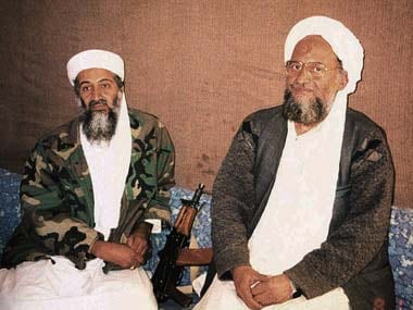 Ayman al-Zawahiri with Osama Bin Laden