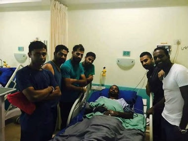 Anwar Ali was rushed to the nearest hospital after he complained that he was feeling uneasy. Twitter: @ILeagueOfficial