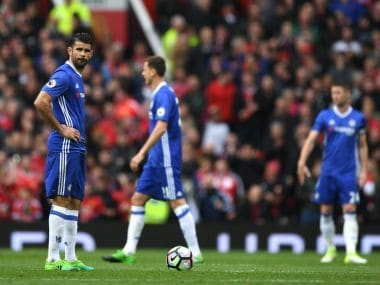 Diego Costa (L) has been in poor form for the last few matches for Chelsea. GettyImages