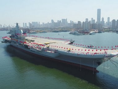 China launched its first aircraft carrier built entirely on its own on Wednesday, in a demonstration of the growing technical sophistication of its defense industries and determination to safeguard its maritime territorial claims and crucial trade routes. AP