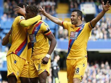 Wilfred Zaha and Christian Benteke scored as Crystal Palace stunned Chelsea at Stamford Bridge. AFP