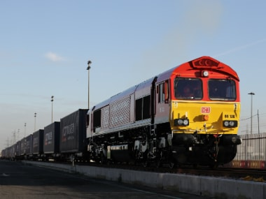 The first freight train from China arrived in the UK 3 months ago. Getty images