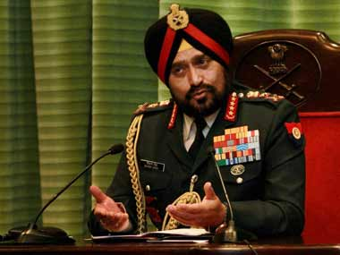 Former Indian Army chief General Bikram Singh. PTI
