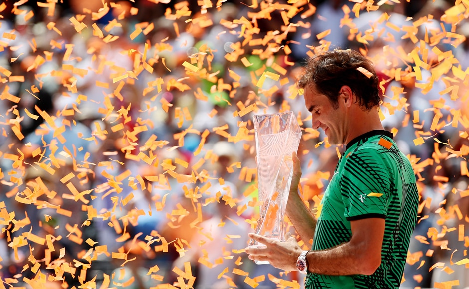 The win gives Roger Federer his 26th Masters 1000 title. This is also the third time he's won Indian Wells and Miami back-to-back and the first time since 2006. Getty