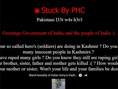 Screenshot of the hacked IIT Delhi website.