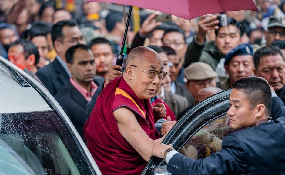 The Dalai Lama is scheduled to consecrate a temple and give blessings to his followers during his week-long stay in Arunachal Pradesh. AP Photo