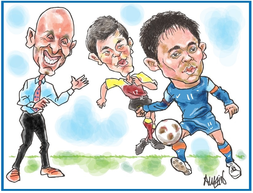 The indian football squad has climbed to the 101st position in FIFA's April rankings. Illustration © Austin Coutinho