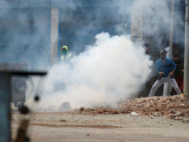 Police resorted to tear-gas at the slightest sign of protest. PTI file image