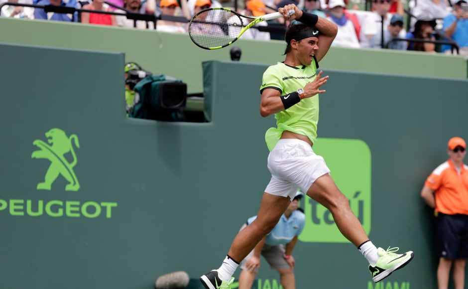Rafael Nadal still leads their career head-to-head record at 23-14, due to his superiority on clay. Federer, now a three-time Miami winner, leads 10-9 on hardcourt. AP