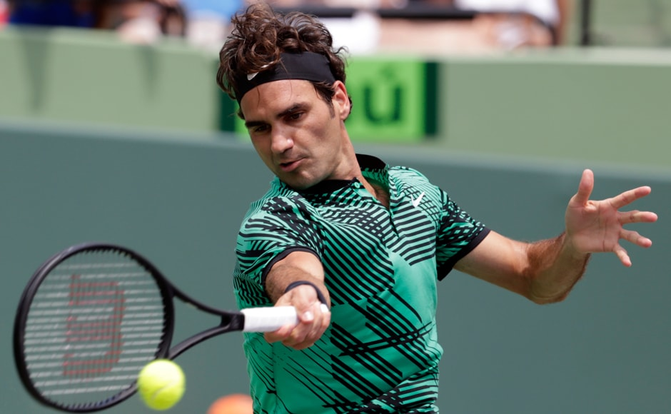 Roger Federer broke once in each set for his fourth consecutive victory over Rafael Nadal. AP