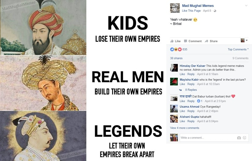 Mad Mughal Memes. Image from Facebook