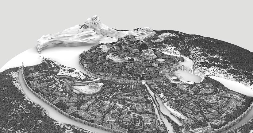 Mahishmathi city, development stage