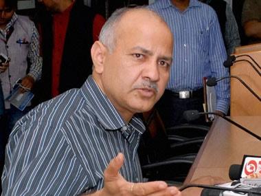 Delhi deputy CM Manish Sisodia. PTI