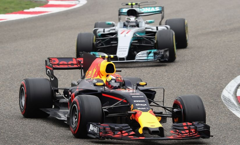 Max Verstappen overtook nine cars in his first lap to ultimately finish third at the Chinese Grand Prix. Getty