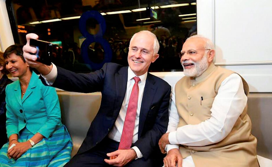 Prime Minister Turnbull invitated Prime Minister Modi to visit Australia at a mutually convenient time. PTI