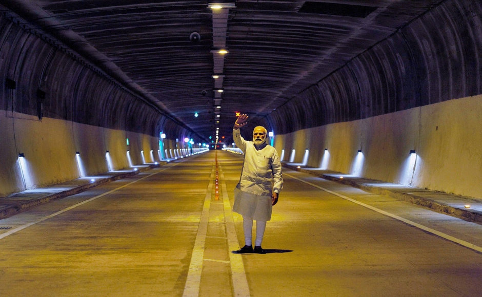 The 9-km long Chenani–Nashri Tunnel, built at the cost of Rs 2,500 crore, was dedicated to the nation by the prime minister in presence of NN Vohra and Mehbooba Mufti. PTI