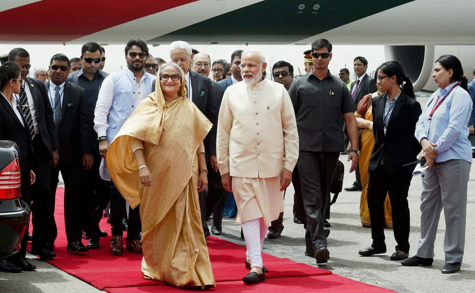 Modi and Hasina, who is staying at the Rashtrapati Bhawan, will hold comprehensive discussions tomorrow. India is also set to announce a line of credit of USD 500 million to Bangladesh for military supplies. PTI