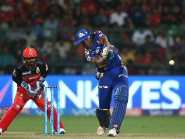 Kieron Pollard smashed a crucial 70 to guide Mumbai Indians to a four-wicket win over RCB. Sportzpics