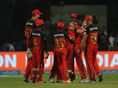 RCB will be looking to notch their second straight win when they face KXIP. SportzPics